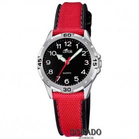 Reloj Lotus niño correa roja y negra - 18169/3