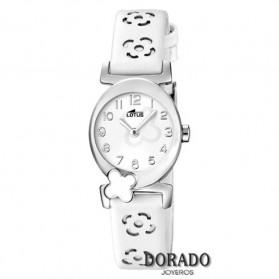 Reloj Lotus niña piel blanca flores 15949/1