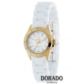 Reloj Marea niña caja dorada correa blanca B32055/5