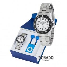 Reloj Marea plateado analogico niño B42158/1