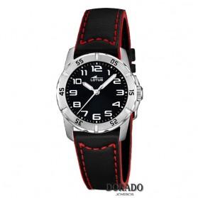 Reloj Lotus niño piel negra y roja 15945/C