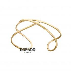 PULSERA RÍGIDA DE LATÓN CHAPADO EN ORO. J3232PO073200. COLECCIÓN EMBOLIC DE JOIDART