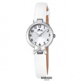 Reloj Lotus niña piel blanca lazo 18265/1