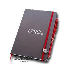 Agenda con bolígrafo Uno de 50 de regalo
