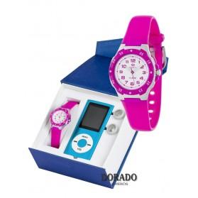 Reloj Marea caucho niña fucsia - B25128/21