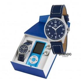 Reloj Marea niño piel azul - B21179/3