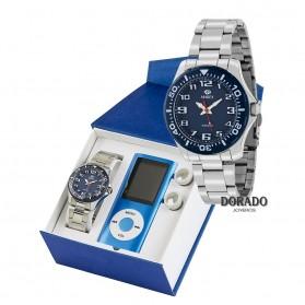Reloj Marea niño acero fondo azul - B35279/5