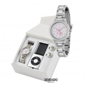 Reloj Marea niña acero corazones rosas - B35306/5