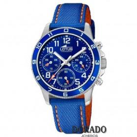 Reloj Lotus niño correa piel azul y naranja - 18581/2