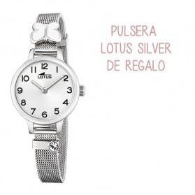Reloj Lotus niña malla acero mariposa blanca - 18660/1