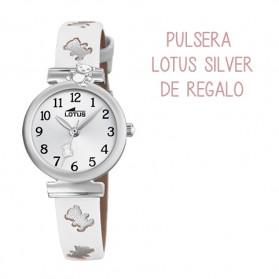 Reloj Lotus comunion niña piel blanca ositos plateados - 18628/1