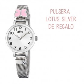 Reloj Lotus niña malla acero mariposa rosa - 18660/2