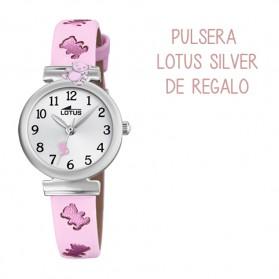Reloj Lotus comunion niña piel rosa ositos - 18628/2