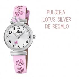 Reloj Lotus comunion niña piel rosa mariposas - 18627/2