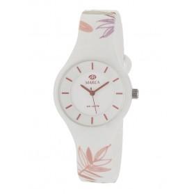 Reloj Marea silicona blanca flores colores B35325/43