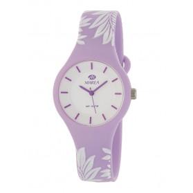 Reloj Marea silicona lila flores blancas B35325/42