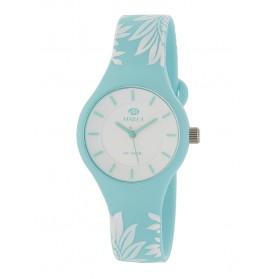 Reloj Marea silicona celeste flores blancas B35325/41