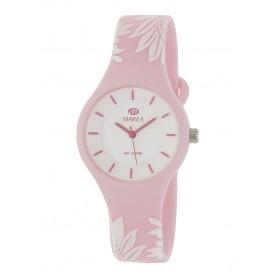 Reloj Marea silicona rosa flores blancas B35325/40
