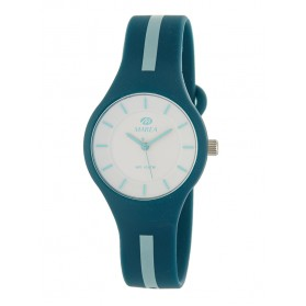Reloj Marea silicona verde oscuro raya verde B35325/15