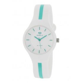 Reloj Marea silicona blanca raya verde B35325/10
