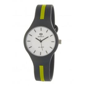 Reloj Marea silicona gris raya pistacho B35325/16