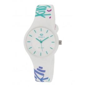 Reloj Marea silicona blanca graffitis colores B35325/21