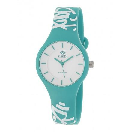 Reloj Marea silicona verde graffitis blancos B35325/22