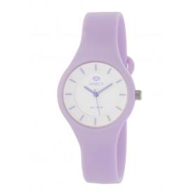 Reloj Marea silicona lila fondo blanco B35325/7