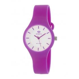 Reloj Marea silicona frambuesa fondo blanco B35325/5
