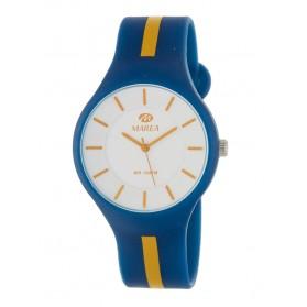 Reloj Marea silicona azul raya naranja B35324/15