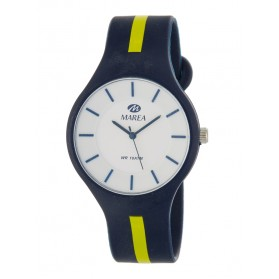 Reloj Marea silicona azul marino raya pistacho B35324/14