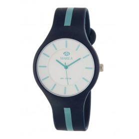 Reloj Marea silicona azul marino raya celeste B35324/13