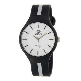 Reloj Marea silicona negra raya gris B35324/10