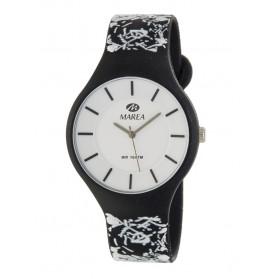 Reloj Marea silicona negra garabatos B35324/22