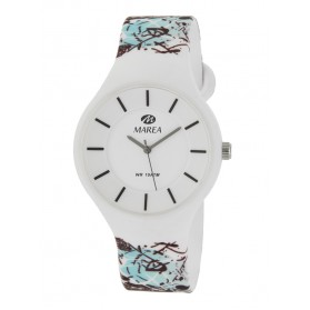 Reloj Marea silicona blanca garabatos B35324/23
