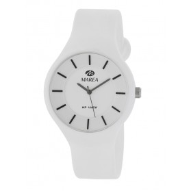Reloj Marea silicona blanca fondo blanco B35324/2