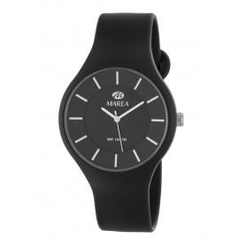 Reloj Marea silicona negra fondo negro B35324/4