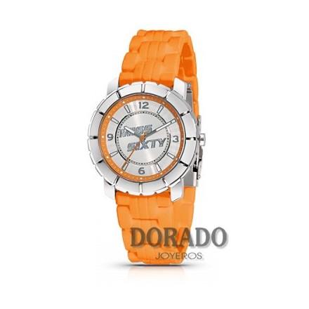 Reloj Miss Sixty caucho naranja SIC007