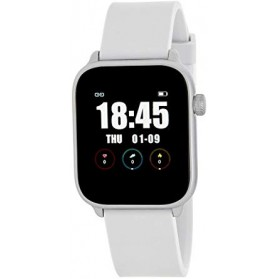 SMART WATCH UNISEX ESFERA CUADRADA BLANCA