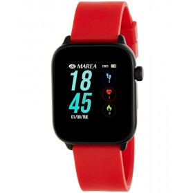SMART WATCH UNISEX ESFERA CUADRADA ROJO