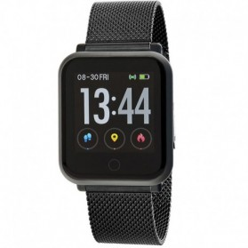 SMART WATCH MALLA UNISEX ESFERA CUADRADA NEGRA