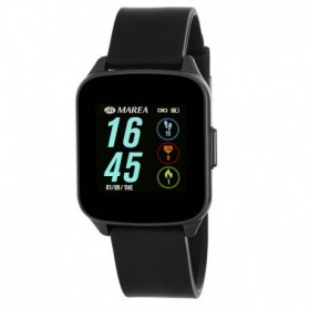 SMART WATCH UNISEX ESFERA CUADRADA NEGRA