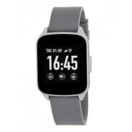 SMART WATCH UNISEX ESFERA CUADRADA GRIS