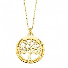 COLLAR LOTUS SILVER TREE OF LIFE DORADO- LP1641-1/2