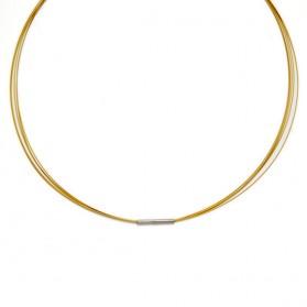 Cadena - Gargantilla de acero dorado