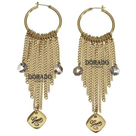 Pendientes Guess dorados cadenas - UBE21211
