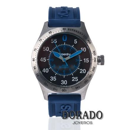 Reloj Superdry hombre correa azul SYG111U