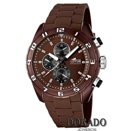 Reloj Lotus hombre caucho marrón 15842/3