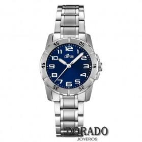 Reloj Lotus cadete acero fondo azul marino 15944/2