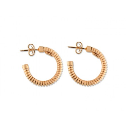 Pendientes Liska aro plata oro rosa - LA9123A-R
